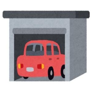 車庫に入っている自動車
