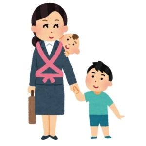 子育てに奮闘するシンブルマザーと子ども